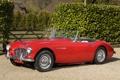 Картинка авто, красный, кабриолет, классика, 1956, Austin Healey, 100-6