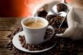 Картинка пена, кофе, пар, чашка, steam, блюдце, cup