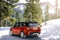 Картинка зима, снег, деревья, пейзаж, горы, Land Rover, Sport