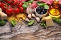 Картинка еда, сыр, овощи, маслины, чеснок, продукты