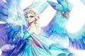 Картинка девушка, птица, frozen, Elsa
