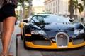 Картинка улица, Bugatti, Veyron, ножки, передняя часть
