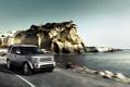 Картинка внедорожник, лето, море, берег, дорога, движение, Land Rover