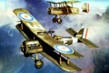 Картинка airplanes, drawing, pilots, biplanes