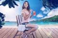 Картинка море, природа, коктейль, напиток, Andresa ALves