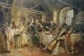 Картинка картина, живопись, старинный, русский, обряд, гостей, К. Е. Маковский