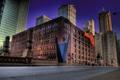 Картинка город, улица, небоскребы, мемориал