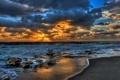Картинка море, пейзаж, закат