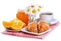 Картинка кофе, ромашки, апельсины, завтрак, мед, чашка, honey