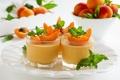 Картинка десерт, листики, абрикосы