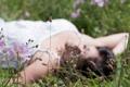 Картинка трава, девушка, природа