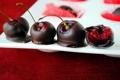 Картинка вишня, шоколад, десерт, вкусно, вишня в шоколаде