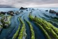 Картинка камни, скалы, зеленые, Испания, Атлантический океан, Бискайский залив, Romavi Calahorra photography