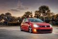 Картинка Volkswagen, GTI, MK6, Bagged, Tornado Red