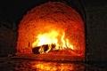Картинка огонь, пламя, камин, очаг, полено