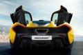 Картинка выхлоп, задок, yellow, карбон, black, McLaren P1, McLaren