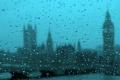 Картинка капли, город, дождь, Westminster on a rainy day from the London eye
