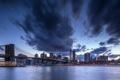 Картинка ночь, город, MANHATTAN