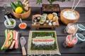 Картинка food, rolls, sushi, суши, роллы, японская кухня, продукты