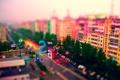 Картинка квартиры, город, красочный дома, улица, яркий