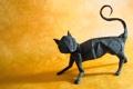 Картинка кошка, фон, оригами