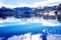 Картинка облака, горы, озеро, горное