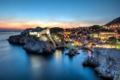 Картинка море, пейзаж, закат, побережье, панорама, Хорватия, Croatia