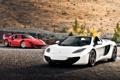 Картинка supercar, феррари, ferrari f40, автообои, McLaren MP4-12C spider