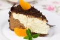 Картинка сладость, шоколад, пирожное, cake, мята, chocolate, мандарин