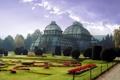 Картинка дизайн, галерея, застеклённое, Pleasure-ground, ботанический, красивый, клумбы