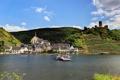 Картинка город, река, побережье, дома, Германия, паром, Ellenz-Poltersdorf