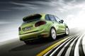 Картинка дорога, скорость, зелёный, Porsche Cayenne