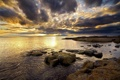 Картинка море, небо, камни, облак