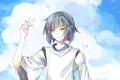 Картинка небо, облака, аниме, арт, парень, Хаяо Миядзаки, унесенные призраками