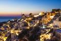 Картинка ночь, город, фото, дома, Греция, santorini