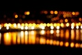 Картинка макро, ночь, city, город, огни, фон, widescreen