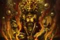 Картинка кровь, бог, руки, арт, мечи, мифология, egyptian mythology