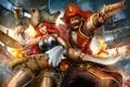 Картинка оружие, корабли, стрельба, пираты, League of Legends, Gangplank, Miss Fortune