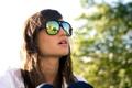 Картинка девушка, солнце, настроение, очки, день, солнцезащитные