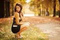 Картинка осень, природа, платье, боке