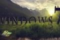 Картинка трава, закат, горы, лягушка, Windows 7, заставка, программа