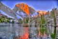 Картинка деревья, пейзаж, горы, природа, озеро, фото, HDR