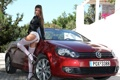 Картинка авто, чулки, ножки, Maria, Tara, Мария Рябушкина, VolksWagen