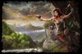 Картинка девушка, пистолет, лук, арт, Tomb Raider, Лара Крофт, Lara Croft