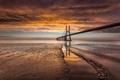 Картинка мост, побережье, Португалия, золотое, Лиссабон