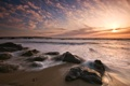Картинка море, волны, пляж, небо, камни, океан