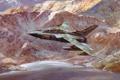 Картинка озеро, рисунок, Горы, самолёт, R.Cross