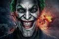Картинка лицо, улыбка, оскал, мужчина, joker, грим, Gods Among Us