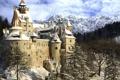 Картинка зима, снег, замок, winter, старинный, castle
