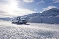 Картинка зима, машина, снег, mercedes, автомобиль, мерседес